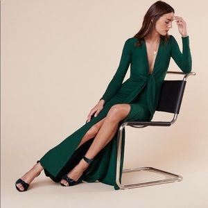 Reformation Dresses - NWT Reformation Aria Dress in Emerald, Size M